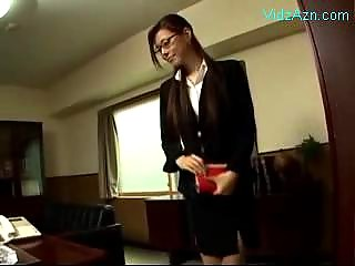 Secretary In Costume Giving..