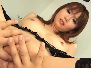 Hot japanese milf gives her..