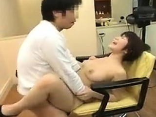 Busty Japanese cash-drawer..