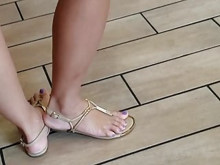 Asian feet readily..