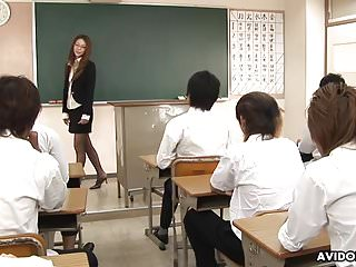Naughty teacher teaches her..