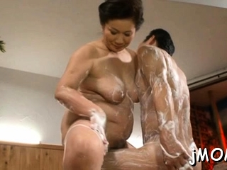 Large titted asian doyenne..