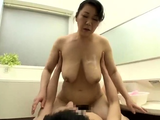 Busty Japanese girl almost..