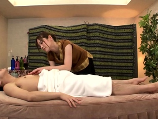 Asian milf has massage and..