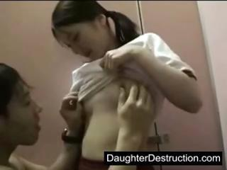 Young girl fucked hard in..